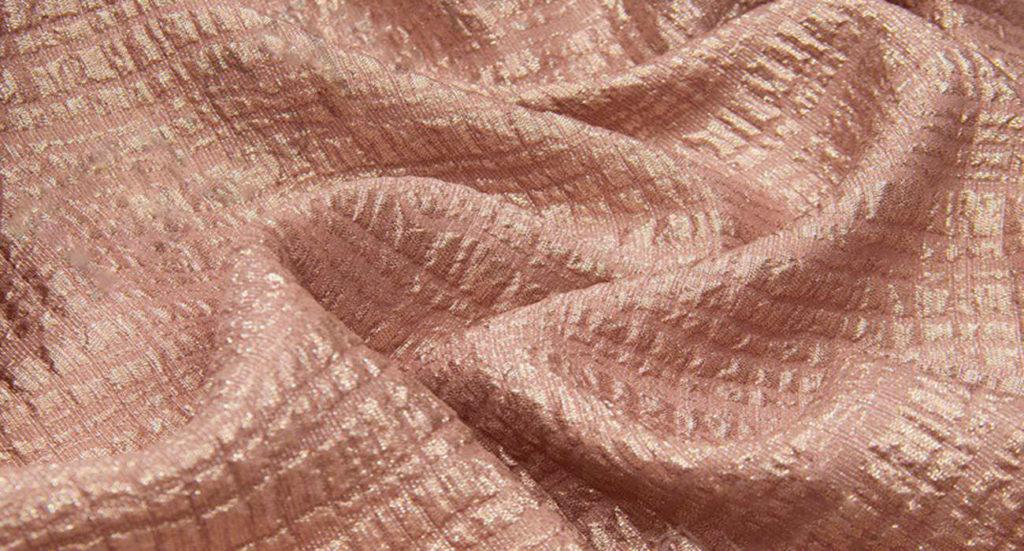 Ткань клоке, цвет — персик