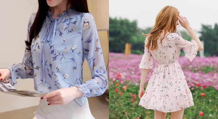 Блузка и платье из ткани лайт