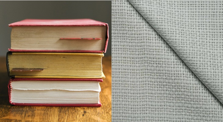Книги из ткани коленкор