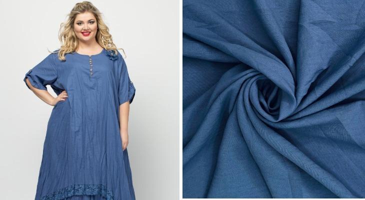Платье из ткани манго цея