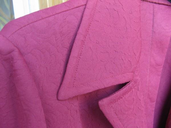 Ткань кримплен, цвет коралл