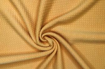 Ткань кримплен, цвет горчичный