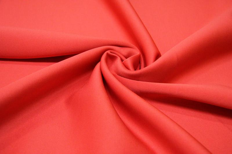 Трикотаж скуба, цвет — красный