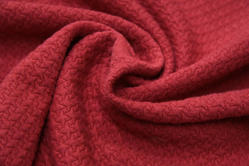 Ткань кримплен, цвет красный