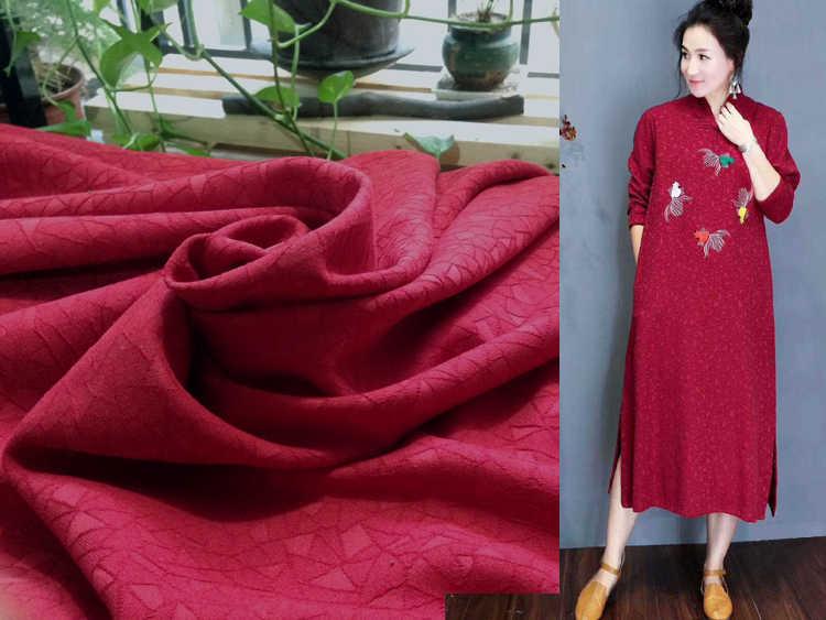 Платье из ткани кримплен бордо