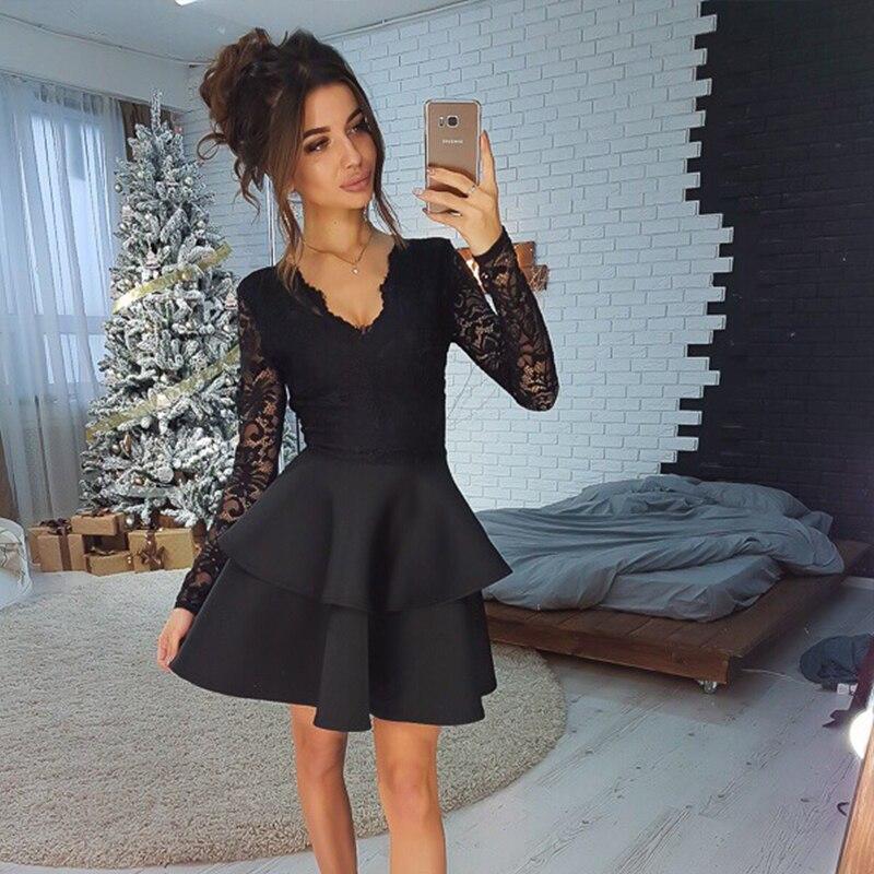 Платье из черной скубы