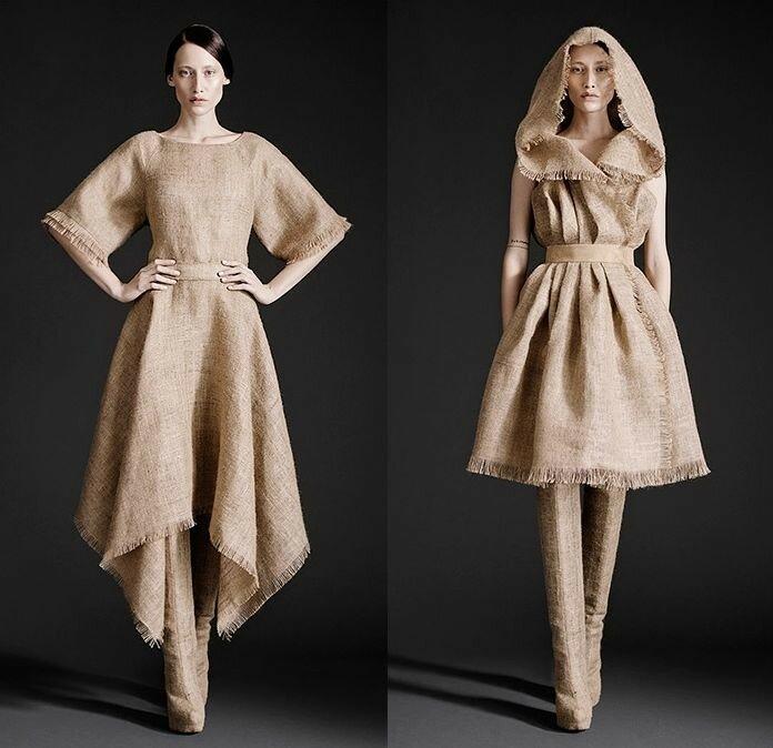 Платья из мешковины