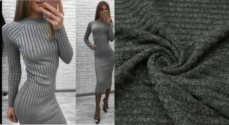 Платье из ткани лапша