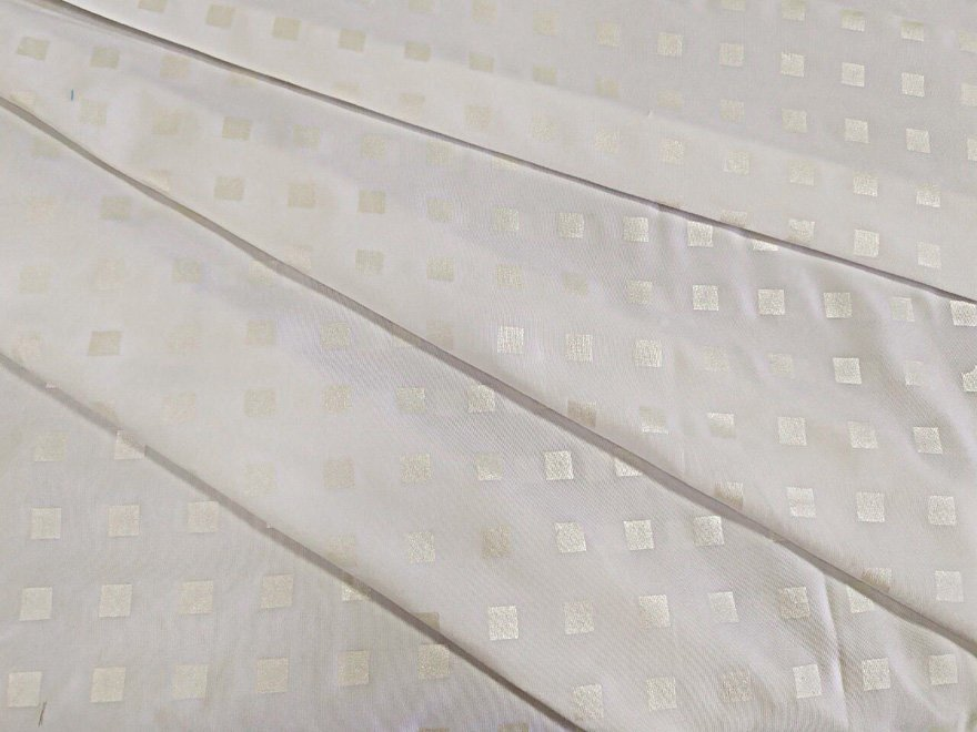 Ткань поплекс белого цвета