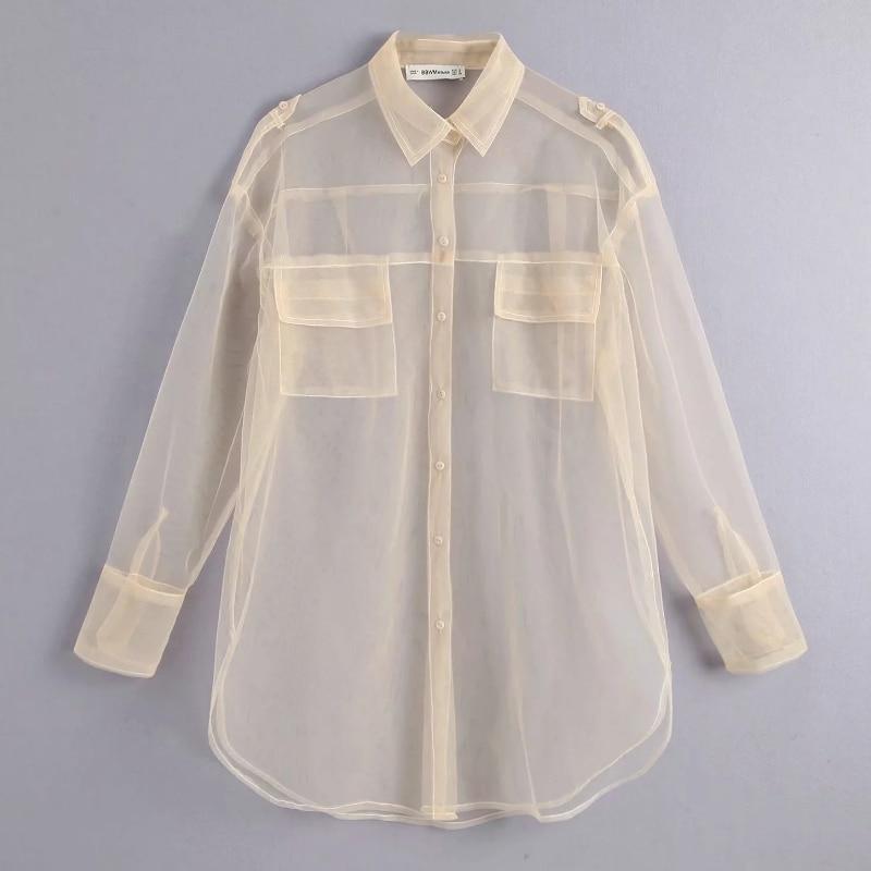 Рубашка из ткани маркизет