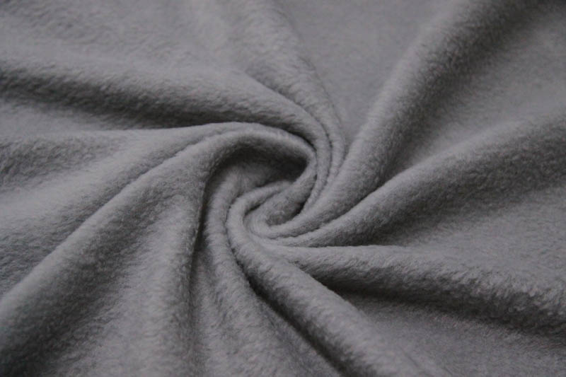 Материал флис серого цвета