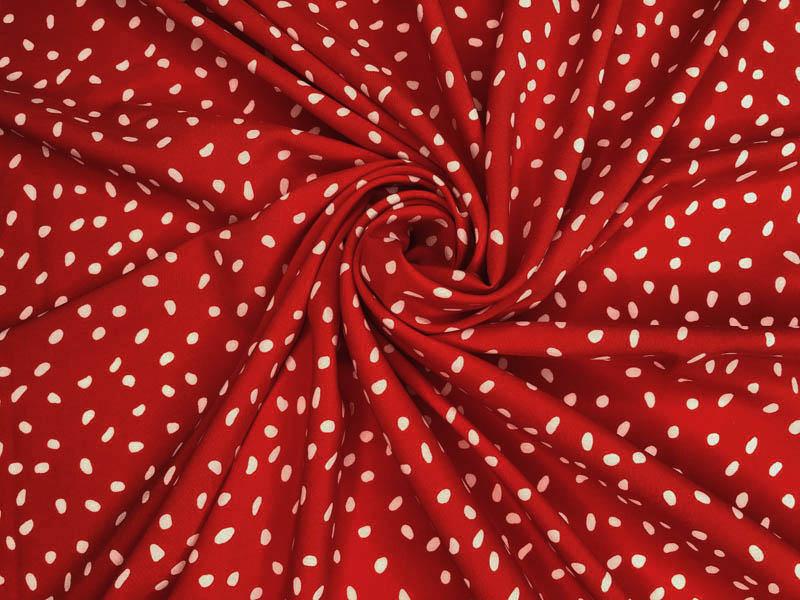 Ткань софт горох на красном