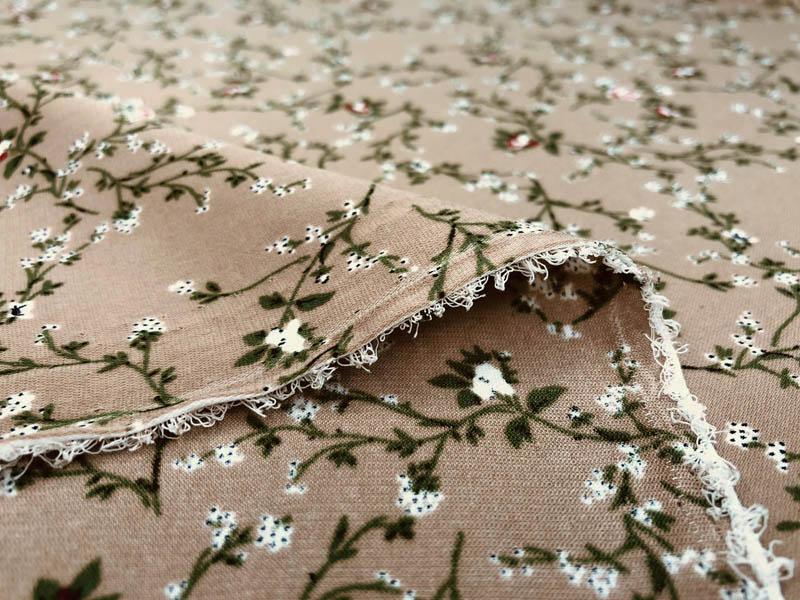Ультрасофт цветы на бежевом