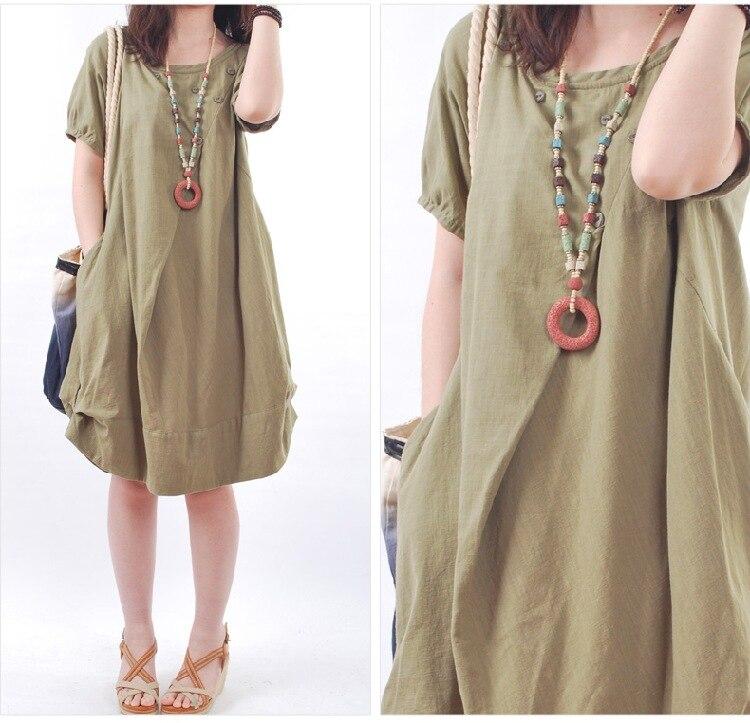Платье из ткани песок