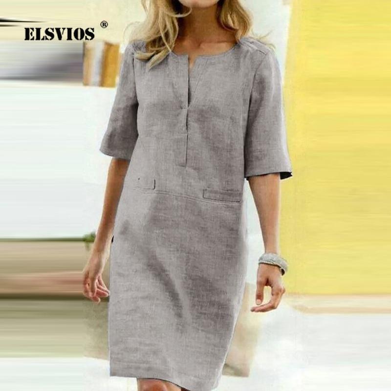 Платье из ткани песок цвет серый