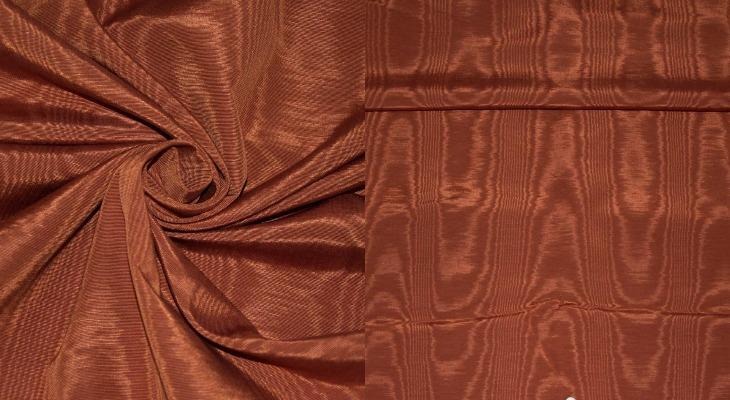 Муаровая ткань терракот