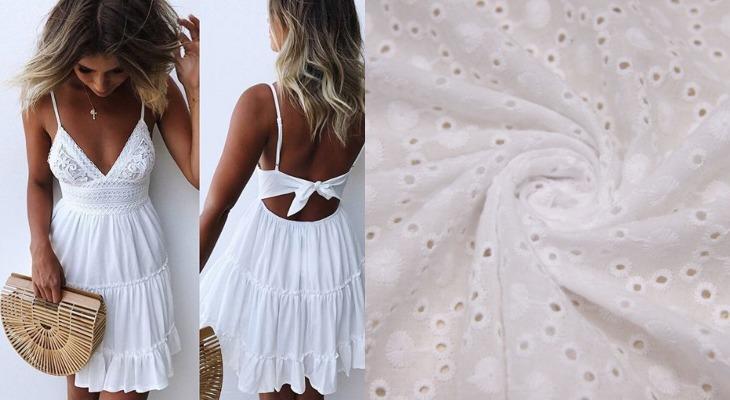 Платье из белой прошвы