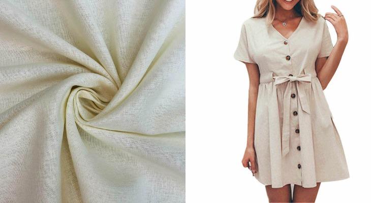 Платье из ткани нанка