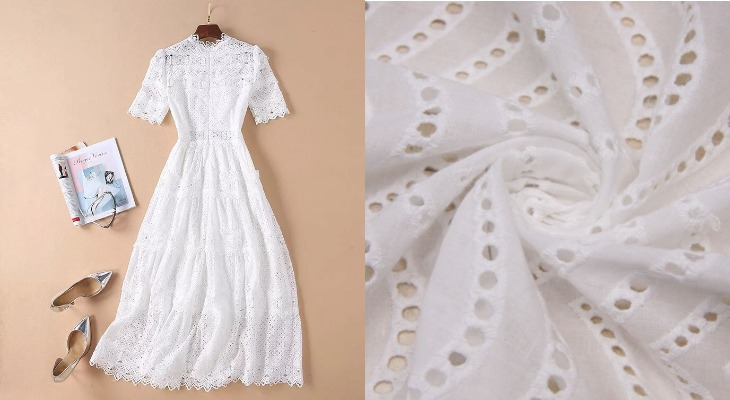 Платье из ткани прошва