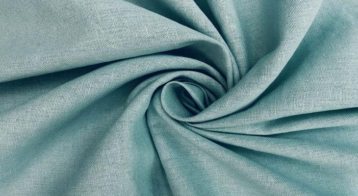 Ткань полулен цвет ментол