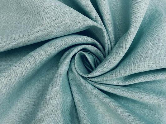 Ткань лен цвет ментол