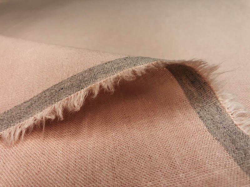 Ткань лен персик
