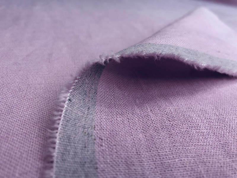 Ткань лен лаванда
