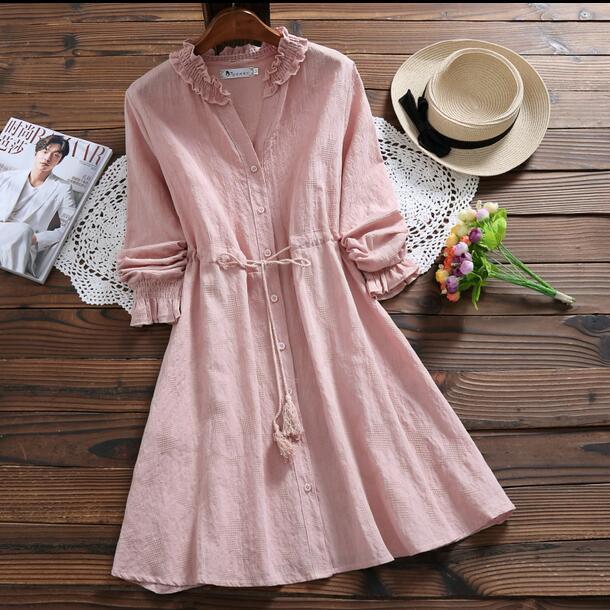 Платье из полульна