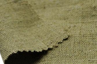 Кромка ткани парусины